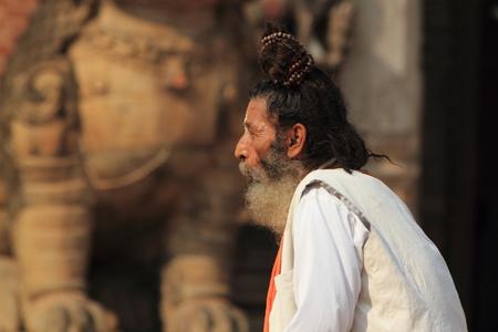 Holy Sadhu of Bhaktapur Nepal Stock Photo - 28199958