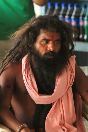 Holy Sadhu of India Stock Photo - 28681360