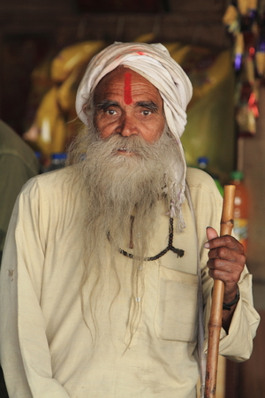 Holy Sadhu of India Stock Photo - 28681362