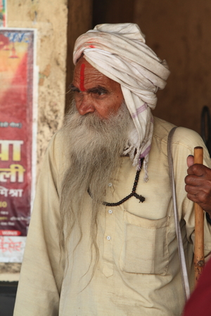 Holy Sadhu of India Stock Photo - 28681363