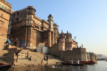 The Holy Ghats of Varanasi in India