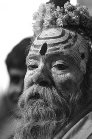 Holy Sadhu in Varanasi Stock Photo - 28965666