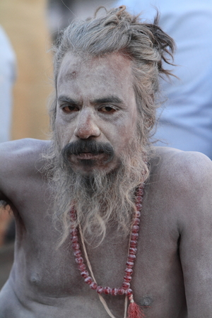 Holy Sadhu in Varanasi Stock Photo - 28966990