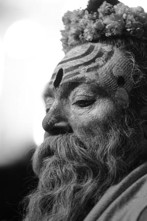 Holy Sadhu in Varanasi Stock Photo - 28967345
