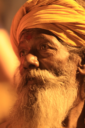 Holy Sadhu in Varanasi Stock Photo - 28967346
