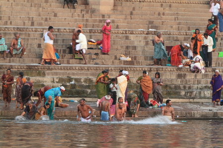 ghat: The Holy bath in the river of Varanasi