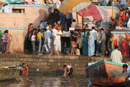 ghat: The Holy Ghats of Varanasi in India