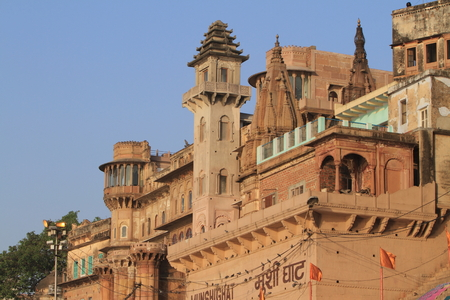 The Holy Ghats of Varanasi in India photo