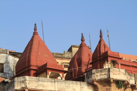 The Holy Ghats of Varanasi in India photo