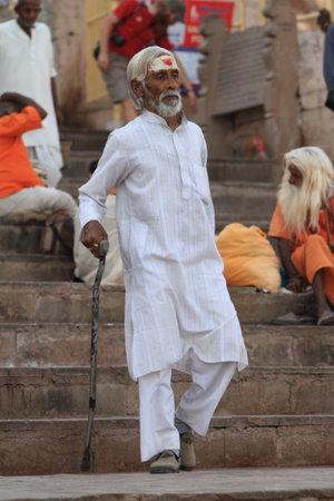 Holy Sadhu in Varanasi Stock Photo - 29517168