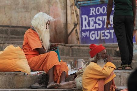Holy Sadhu in Varanasi Stock Photo - 29516032