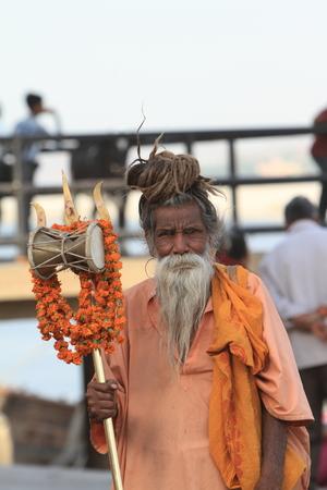 Holy Sadhu in Varanasi Stock Photo - 29516025