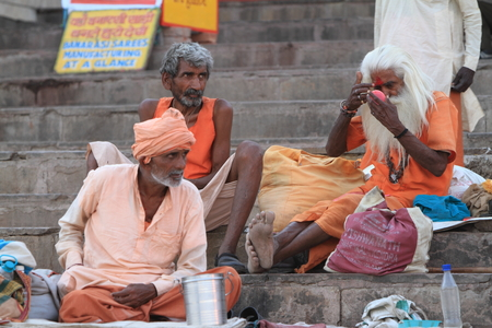 Holy Sadhu in Varanasi Stock Photo - 29516024
