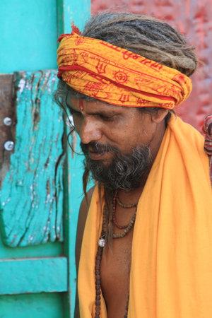 Holy Sadhu in Varanasi Stock Photo - 29555258