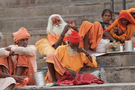 Holy Sadhu in Varanasi Stock Photo - 29547659