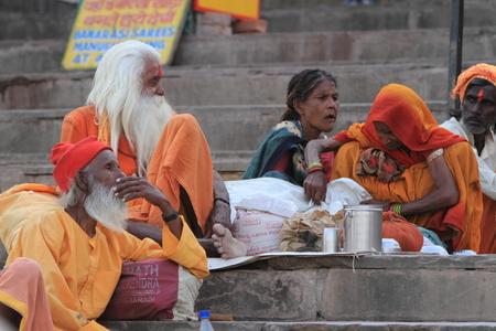 Holy Sadhu in Varanasi Stock Photo - 29547742