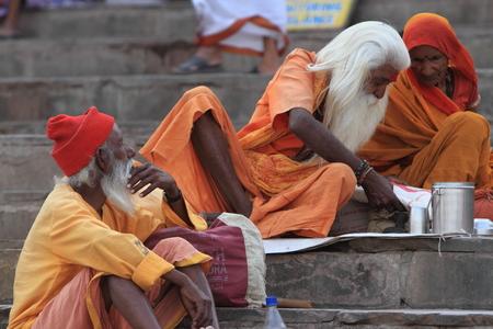 Holy Sadhu in Varanasi Stock Photo - 29547751