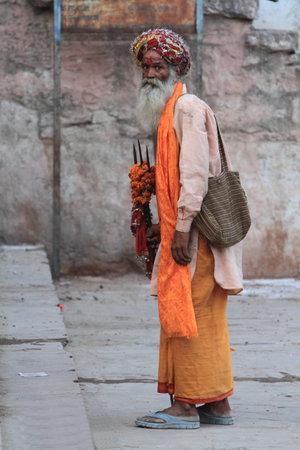 Holy Sadhu in Varanasi Stock Photo - 29517181