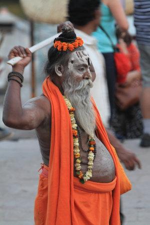 Holy Sadhu in Varanasi Stock Photo - 29517182
