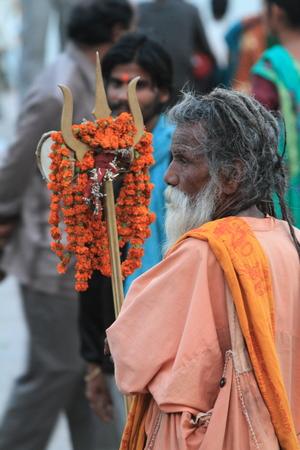 Holy Sadhu in Varanasi Stock Photo - 29516415