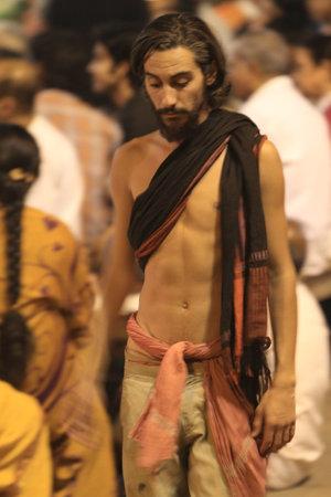 Holy Sadhu in Varanasi Stock Photo - 29517188