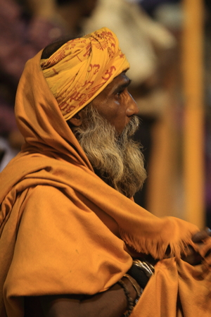 Holy Sadhu in Varanasi Stock Photo - 29517190