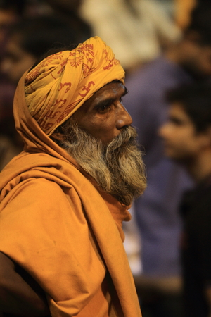 Holy Sadhu in Varanasi Stock Photo - 29517191