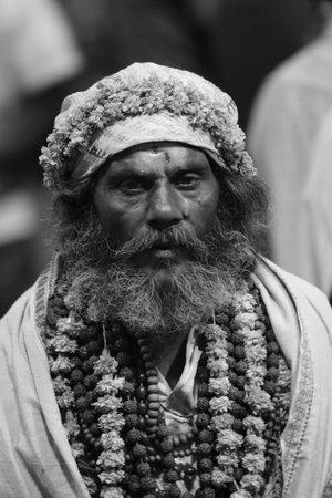 Holy Sadhu in Varanasi Stock Photo - 29517198