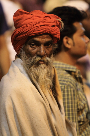 Holy Sadhu in Varanasi Stock Photo - 29517201