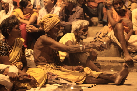Holy Sadhu in Varanasi Stock Photo - 29517202