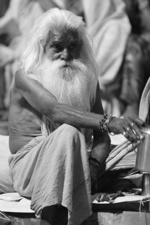 Holy Sadhu in Varanasi Stock Photo - 29517203