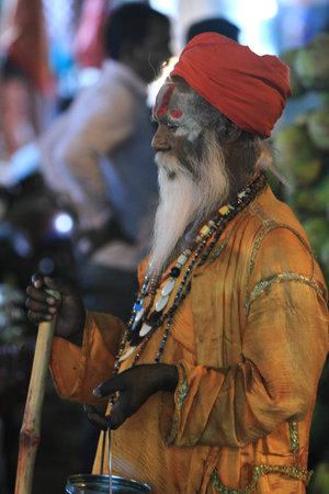 Holy Sadhu in Varanasi Stock Photo - 29517204