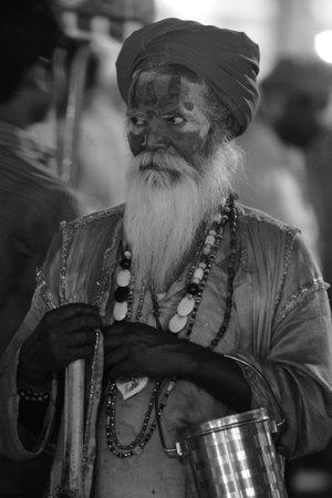 Holy Sadhu in Varanasi Stock Photo - 29517205