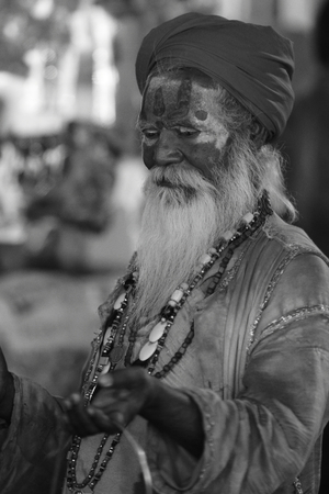 Holy Sadhu in Varanasi Stock Photo - 29517206