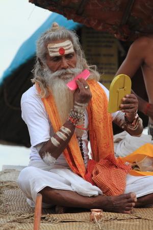 Holy Sadhu in Varanasi Stock Photo - 29516581