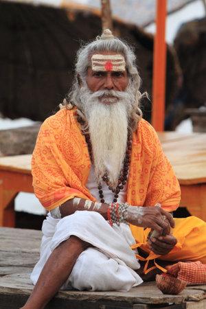 ascetic: Holy Sadhu in Varanasi