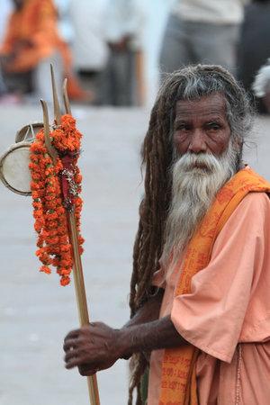 Holy Sadhu in Varanasi photo