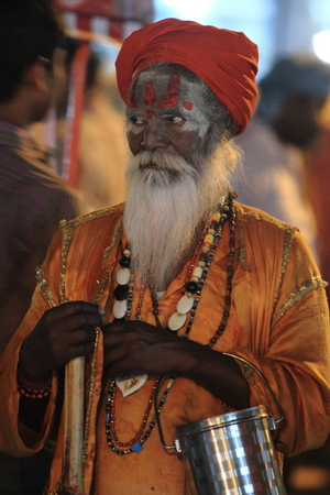 Holy Sadhu in Varanasi photo