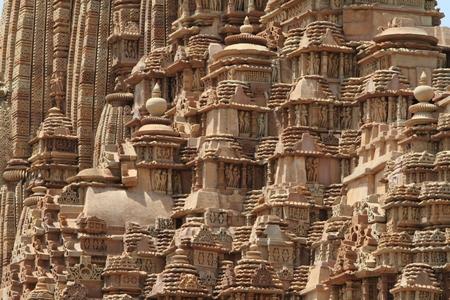 kamasutra: The Temple City of Khajuraho in India Stock Photo
