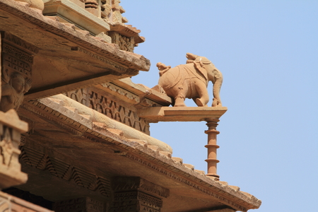 The Temple City of Khajuraho in India Standard-Bild