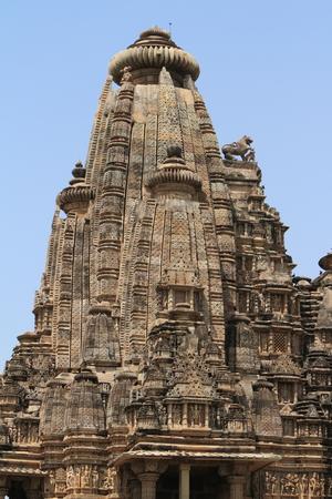 khajuraho: El templo de la ciudad de Khajuraho en la India Foto de archivo
