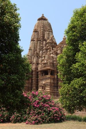 madhya: The Temple City of Khajuraho in India Stock Photo