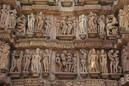 madhya pradesh: The Temple City of Khajuraho in India Stock Photo