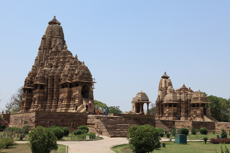 khajuraho: El templo de la ciudad de Khajuraho en la India Editorial
