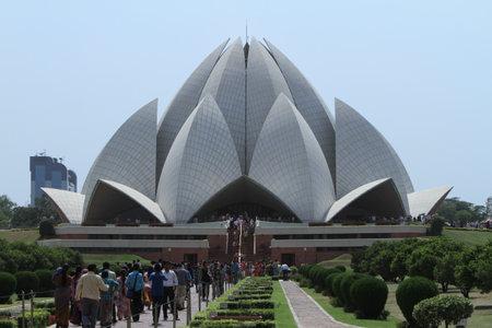 The Lotus Temple in New Delhi India