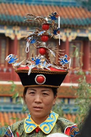 mujer china: Mujer china tradicional Foto de archivo