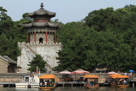 the summer palace: The Summer Palace of Beijing in China Editorial