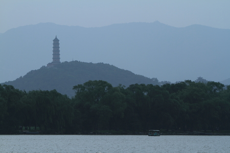 the summer palace: The Summer Palace of Beijing in China Stock Photo