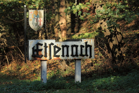 ortsschild: Eisenach City Coat of Arms