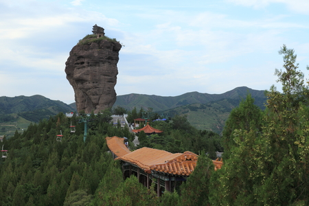 rock formation: Rock Formation of Chengde in China Stock Photo